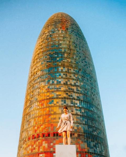Naomi Bowler at the Torre Glories in Barcelona, Spain