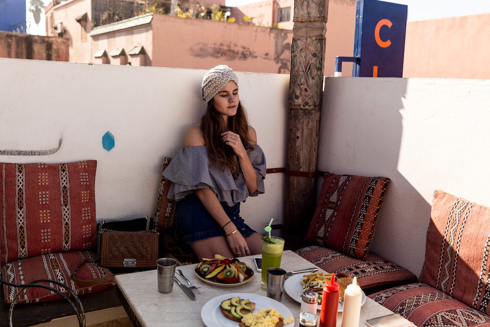 The Fashion Fraction at Cafe Clock, in Marrakech Morocco